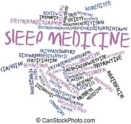 Sleep medicine - Abstract word cloud for Sleep medicine with...
