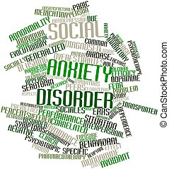Abstract word cloud for Social anxiety disorder with related tags and terms