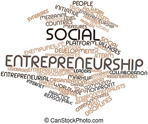 Social entrepreneurship - Abstract word cloud for Social...