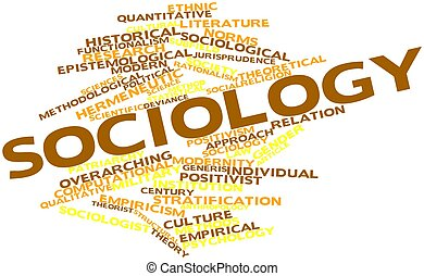 Sociology - Abstract word cloud for Sociology with related...