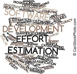 Software development effort estimation - Abstract word cloud...