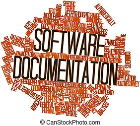 Software documentation - Abstract word cloud for Software...