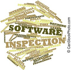 Software inspection - Abstract word cloud for Software...