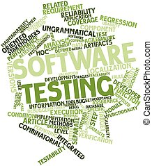 Software testing - Abstract word cloud for Software testing...