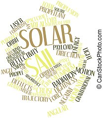 Solar sail - Abstract word cloud for Solar sail with related...