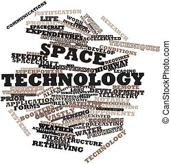 Space technology - Abstract word cloud for Space technology...