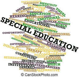 Abstract word cloud for Special education with related tags and terms