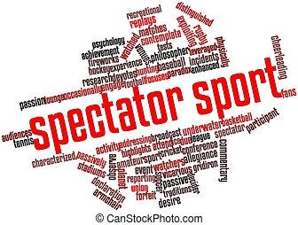 Spectator sport - Abstract word cloud for Spectator sport ...