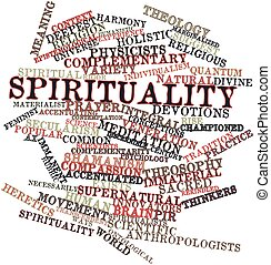 Abstract word cloud for Spirituality with related tags and terms