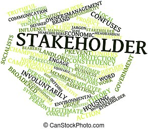 Stakeholder - Abstract word cloud for Stakeholder with...