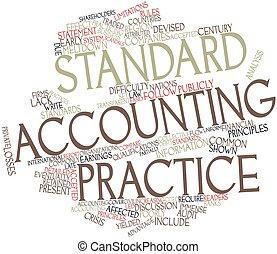 Standard accounting practice - Abstract word cloud for...