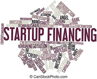 Startup Financing - Abstract word cloud for Startup...