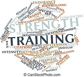Strength training - Abstract word cloud for Strength...