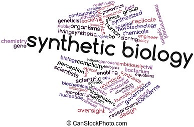 Synthetic biology - Abstract word cloud for Synthetic...