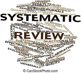Abstract word cloud for Systematic review with related tags and terms