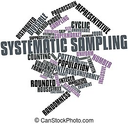 Systematic sampling - Abstract word cloud for Systematic...
