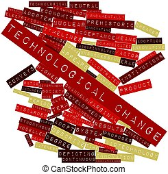 Abstract word cloud for Technological change with related tags and terms