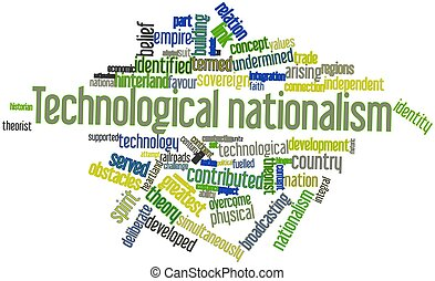 Technological nationalism - Abstract word cloud for...