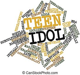 Abstract word cloud for Teen idol with related tags and terms
