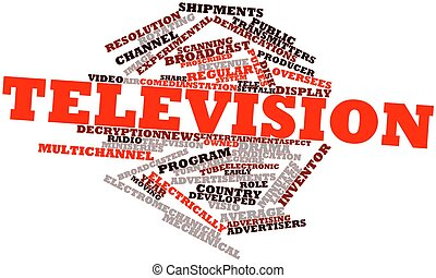 Television - Abstract word cloud for Television with related...