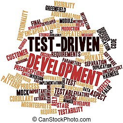Test-driven development - Abstract word cloud for...