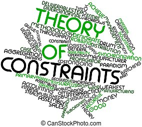 Theory of constraints - Abstract word cloud for Theory of...