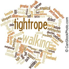 Tightrope walking - Abstract word cloud for Tightrope...