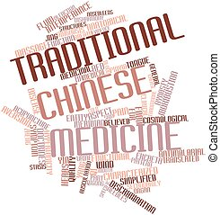 Traditional Chinese medicine - Abstract word cloud for...