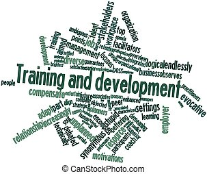 Training and development - Abstract word cloud for Training...