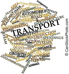 Transport - Abstract word cloud for Transport with related...