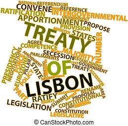 Treaty of Lisbon - Abstract word cloud for Treaty of Lisbon...
