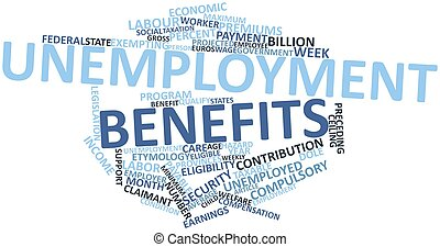 Unemployment benefits - Abstract word cloud for Unemployment...