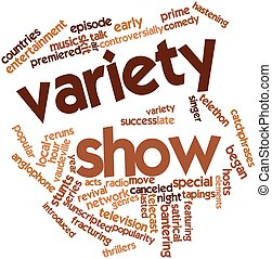 Abstract word cloud for Variety show with related tags and terms