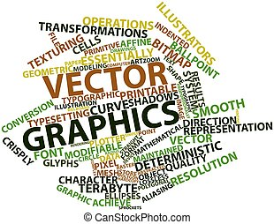 Vector graphics - Abstract word cloud for Vector graphics...