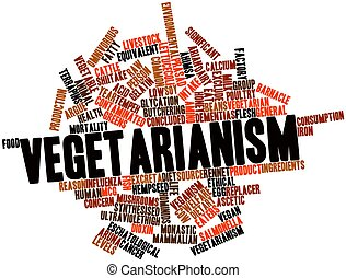 Vegetarianism - Abstract word cloud for Vegetarianism with...