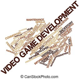 Video game development - Abstract word cloud for Video game ...