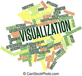 Visualization - Abstract word cloud for Visualization with...
