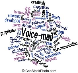 Abstract word cloud for Voice-mail with related tags and terms