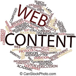 Abstract word cloud for Web content with related tags and terms