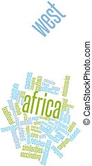 West Africa - Abstract word cloud for West Africa with...