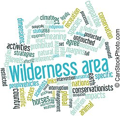 Wilderness area - Abstract word cloud for Wilderness area ...