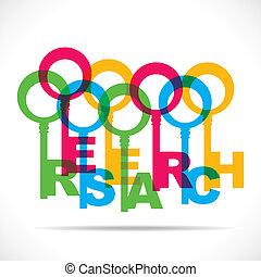 abstract word make research word color key stock vector