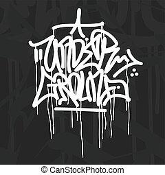 Word Underground Graffiti Style Typography Vector Illustration