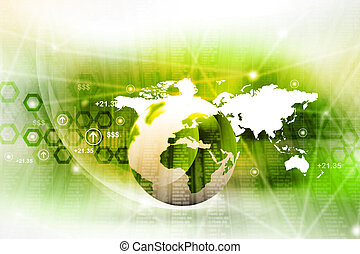 Abstract world business background