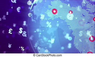 """""""Abstract World Globe with currency signs """""""