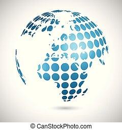 Abstract world illustration, vector