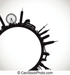 abstract world landmarks