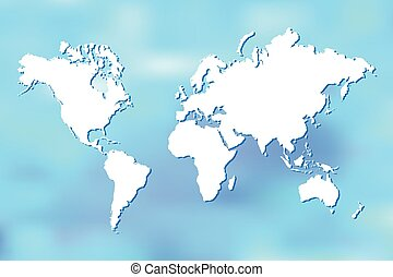 Abstract World Map Illustration
