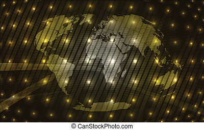 world map led display