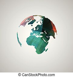 Abstract world vector symbol